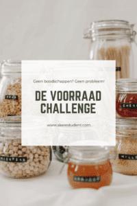 Met de voorraad challenge maak je geen boodschappen doen leuk! Ik deed de challenge 2 weken met een boodschappenbudget van maar €0! En het is me nog gelukt ook :)