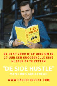 Een side hustle opzetten in 27 uur, wie wil dat nou niet? In het boek 'De Side Hustle' van Chris Guillebeau, legt hij uit hoe. Mijn review lees je op SkereStudent.com