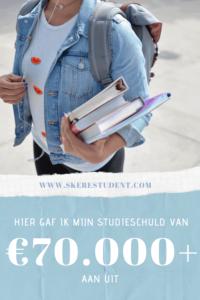 Ik heb een studieschuld van €70.000+. In deze blog post op SkereStudent.com leg ik je precies uit waar dat geld allemaal gebleven is.
